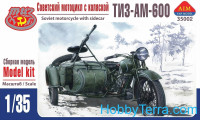 TIZ-AM-600 Soviet motorcycle with sidecar