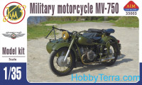 MV-750 Soviet military motorcycle with sidecar