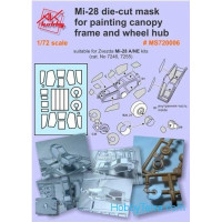 Painting masks 1/72 for Mi-28, for Zvezda 7246, 7255 kits
