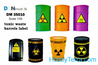 Decal 1/35 Toxic waste barrels label
