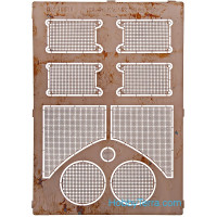 Photo-etched set 1/35 Grilles for King Tiger tank