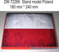 Display stand. Poland theme, 240x180mm