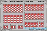 Photo-etched set 1/48 Remove before flight, UK