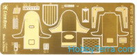 Photo-etched set 1/48 WWII RAF Seats & Buckles