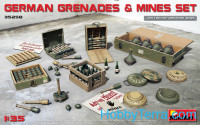 German grenades and mines set