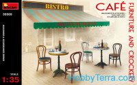 Cafe furniture and crockery