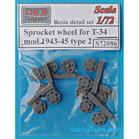 Sprocket wheel for T-34,mod.1943-45, type 2 (6 pcs)