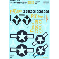 Decal 1/48 for Boeing B-17 Flying Fortress, Part 1