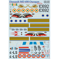 Decal 1/72 for Dassault MD 450