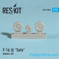 Wheels set 1/72 for F-16 (I) Sufa