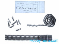 Assembled metal tracks for Pz.Kpfw V Panther, early type