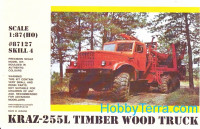 Kraz 255L timber wood truck