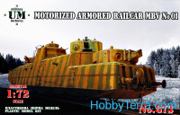 MBV #01 motorized armored railcar