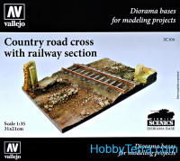 Country road cross with railway section