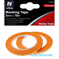 Masking tape 3mm x 18m, 2 pcs
